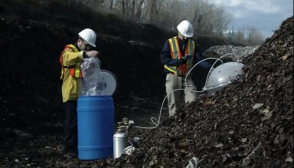Compost odor sampling